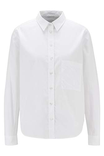 BOSS Damen C Bemanew Regular-Fit Bluse aus Bio-Baumwoll-Popeline