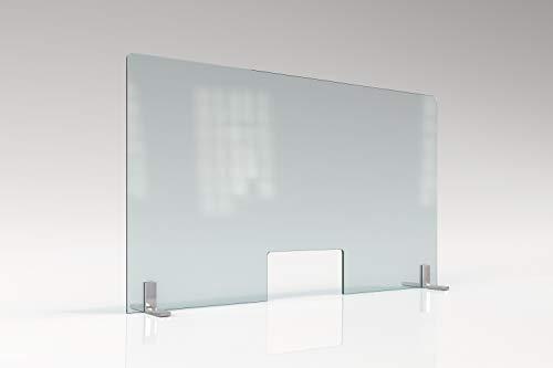 Mampara de Protección de Vidrio Templado 6mm. Varias medidas. Fabricada en España. (120 Ancho x 70 Alto)
