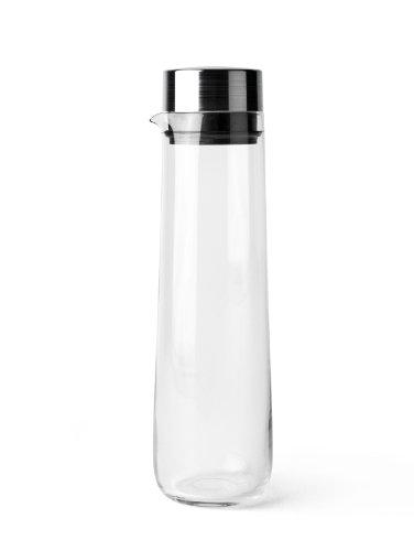 Menu 4684039 Wasserkaraffe mit Edelstahldeckel, Höhe 32 cm, Durchmesser 9 cm, 1,2 L