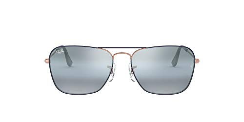 Ray-Ban Herren 0RB3136 Sonnenbrille, Grau (Copper On Top Mt Dk Blue), 54.0