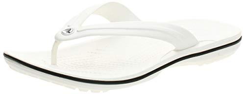Crocs Crocband Flip, Chanclas Unisex-Adult, White (White), 43/44 EU