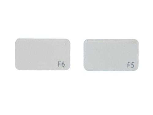 Tastatur Ohrstecker Miniblings Stecker Ohrringe Keyboard weiß F5 F6 blanco