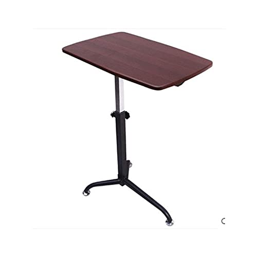 Over Bed Table Height Adjustable Sit-Stand Mobile Laptop Computer Desk Cart Home Bedside Laptop Overbed Table