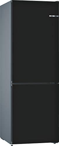 Bosch KVN36CZEA Serie 4 VarioStyle Freistehende Kühl-Gefrier-Kombination / E / 186 cm / 239 kWh/Jahr / austauschbare Türfront Schwarz matt / 216 L Kühlteil / 89 L Gefrierteil / NoFrost / FreshSense