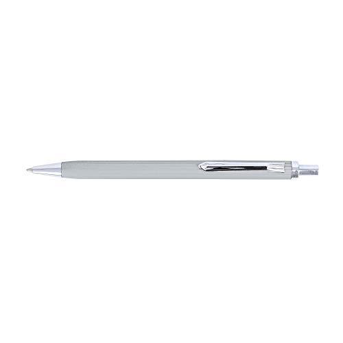 ONLINE 21586/3D - Kugelschreiber Alu Fashion Silber inkl. internationale Großraummine Schreibfarbe blau, 1 Stück