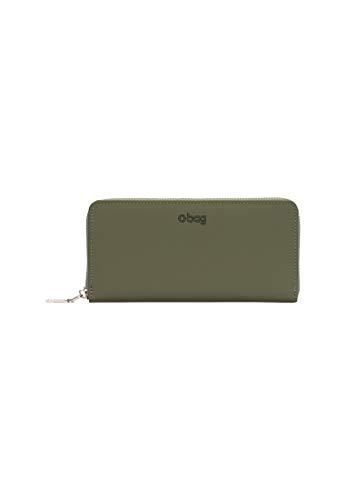 O bag - Brieftasche für Frauen komplett in gummierte Gewebe