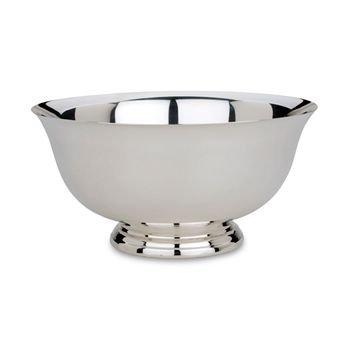 "Silver Serving Bowl Size: 9"" Diameter"