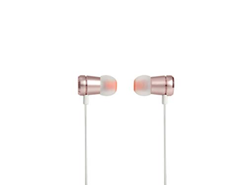 JBL T290 In-Ear Kopfhörer Ohrhörer Hochwertige Aluminium-Ausführung mit 1-Tasten-Fernbedienung und Mikrofon Kompatibel mit Apple und Android Geräten - Roségold