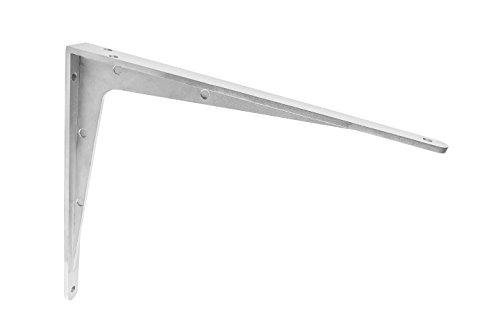 Gedotec Schwerlast-Konsole Aluminium Regalträger Winkel-Konsole - Sparta | 500 x 450 x 47 mm | Schwerlastträger Tragkraft 400 kg | Regalhalter Alu massiv | 1 Stück - Regalkonsole für die Wandmontage