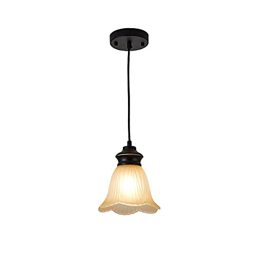 YXLMAONY Iluminación de araña Moderna con Pantalla de Forma de Flores Acabado de Accesorio de Altura Ajustable para Dormitorio, Sala de Estar, Comedor, Entrada de Pasillo de Isla de Cocina
