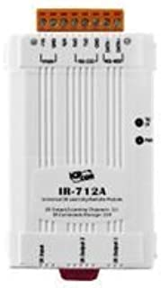 ICP DAS IR-712A Universal IR Infrared Learning Remote Module with 2 IR outputs, 224 IR Command Storage, Supports Modbus RTU Protocol and RS-232 and RS-485 Serial Interface