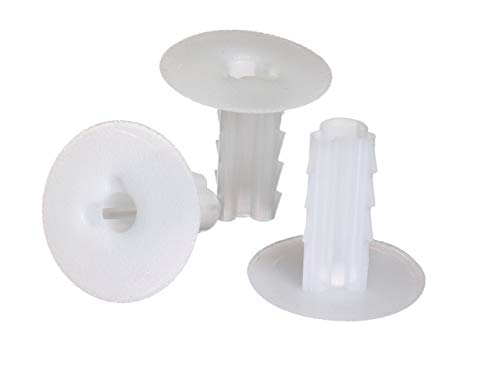 Single Feed Thru Bushing - (White) RG6 Feed Through Bushing (Grommet) Replaces Wallplates (Wall Plates) for Coax Coaxial Cable, Network Cable, CCTV - Indoor/Outdoor Rated - 10 Pack