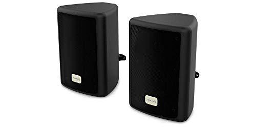 Audibax Picolo PR-41. Cassa Mensola - Casse Hi-Fi e sonorizzazione - Potenza 75 W - con Supporto per Stand - Coppia, Nero. Dimensioni: 191 x 139 x 126 mm
