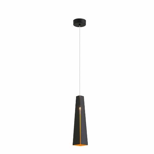 FARO BARCELONA 64172 Pluma LED Lampe Suspension Noir et Or