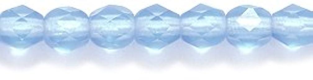 Preciosa Czech 4-mm Fire-Polished Matte  Glass Bead, Faceted Round, Transparent Medium Sapphire, 300/pack