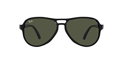 Ray-Ban 0RB4355 Gafas, BLACK TRASPARENT BLACK, 58 Unisex Adulto