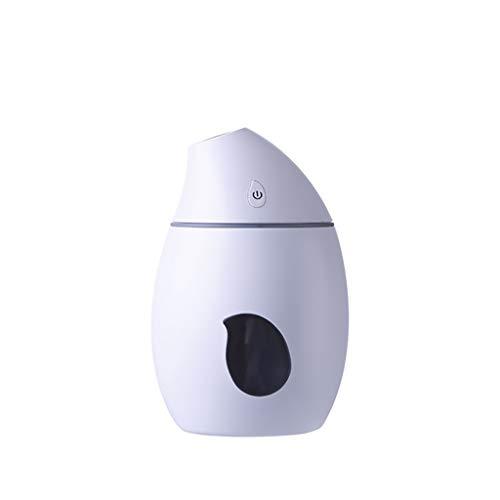 nihao Auto Lufterfrischer Mango Luftbefeuchter Diffusor Ultraschall USB tragbar mit LED-Licht Luftbefeuchter Luftreiniger Sprühgerät-White