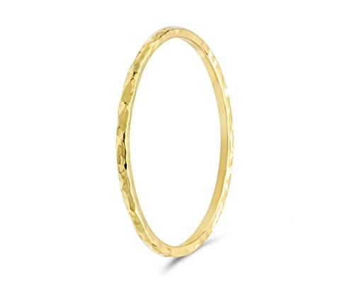 Bague femme or 750, martelé   bague minimaliste, bague phalange, bague fait main   bijoux en or femme 18k