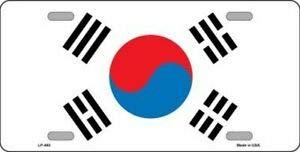 SIGNCHAT zuid korea vlag nieuwigheid kentekenplaat kenteken 15x30 cm
