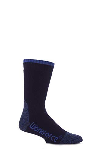 Workforce Herren 1 Paar Stahl Sicherheit Socken in drei Farben - 7-11 Mens - Blau