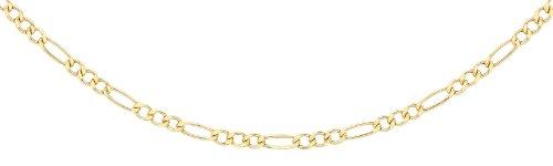 Carissima Gold Damen Hollow Figaro Halskette 9k(375) Gelbgold 2mm 46cm/18zoll