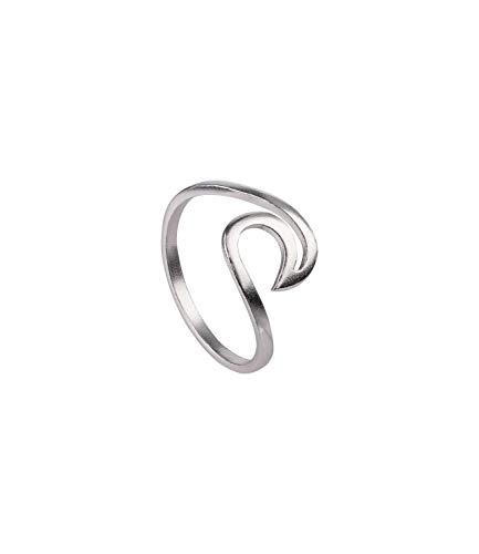 SIX Ring in Wellenform 925er Silber - Größe: 52 (728-880)