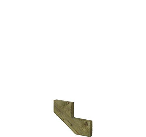 Treppenwange für 2 Stufen Plus Massivholz druckimprägniert 1 Stück