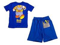Shortama enfant pyjama bob the builder bleu taille 92