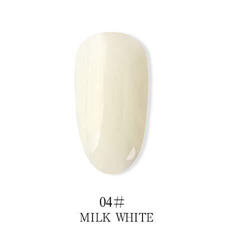 Vernis à ongles en gel de lait blanc 15 ml nécessite un durcissement sous lampe LED / UV - (15 ml # 4)