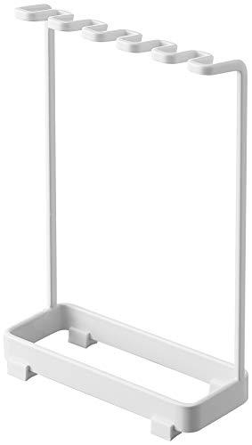 山崎実業(Yamazaki) 歯ブラシスタンド 5連 ホワイト 約W12.5XD5XH18.5cm タワー 歯ブラシ立て ホルダー 4698