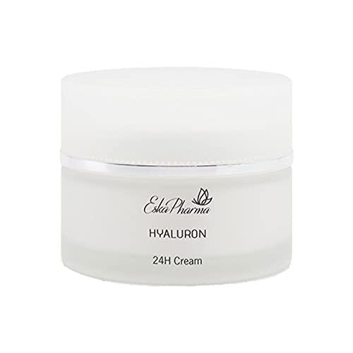 EskaPharma Hyaluronic 24H Tag- und Nachtcreme Gesichtscreme, Feuchtigkeitscreme für das Gesicht und glättende Haut für Frauen und Männer (50ML)
