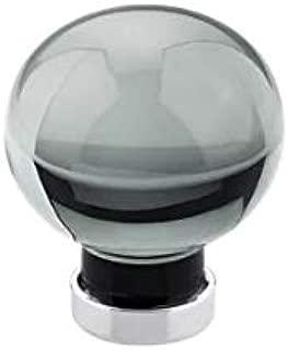 Emtek 86529 Bristol Colored Crystal 1 Inch Diameter Round Cabinet Knob, Polished Chrome