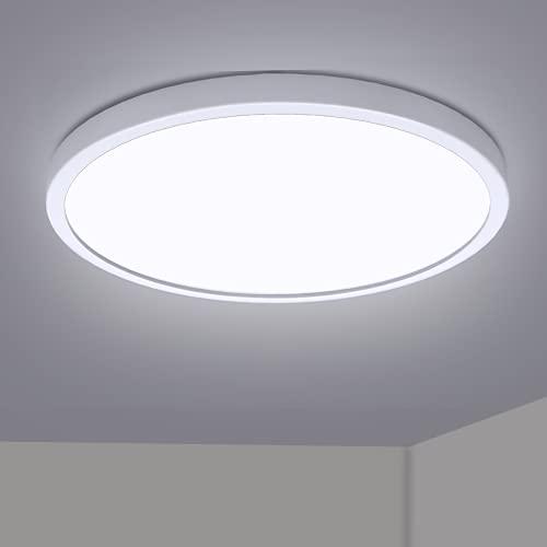 Kimjo Plafoniera LED da Soffitto 28W, 6500K Bianco Freddo 2520LM Luce da Soffitto a LED, Ø300mm Lampada Rotonda Soffitto 21mm Ultra magro Plafoniere per Soggiorno Camera Cucina Corridoio Balcone