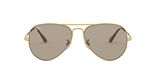 Ray-Ban Aviator Metal II Gafas de Lectura, Gold, 58 Unisex Adulto