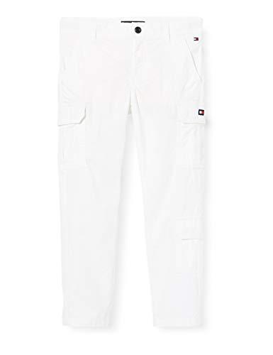 Tommy Hilfiger Cargo Pants Pantaloni, Bianco (White 658/170 Ybr), (Taglia Unica: 86) Bambino