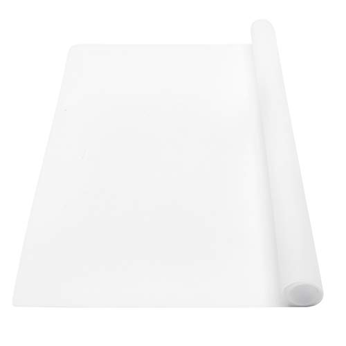 wellhouse Extra Large Silicone Baking Mat Pastry Mat Countertop Protector Clay Mat No-slip Non Stick Waterproof Heat Resistant Silicone Placemats Table Mat 23.6 by 15.7 inch(Translucent)