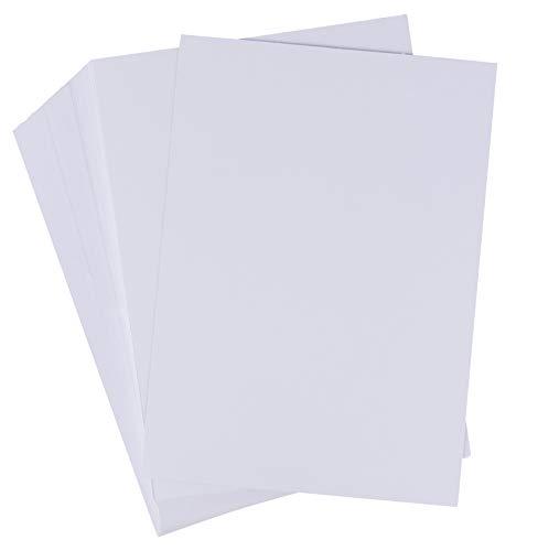 Karteikarten – 200er-Pack 5x7 schwerer weißer Karton, 300 g/m², unliniertes dickes Papier, für Flash-Notizen, Postkarten, Einladungen, Broschüren, Marketing-Material, Beschilderung, 12,7 x 17,8 cm