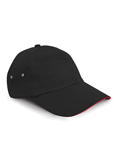 Result headwear-imprimantes plush coton, 5 panel casquette-rouge