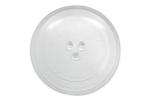 Wagtail - Plato para microondas universal de diámetro 270 mm, Plato giratorio de cristal para microondas con 3 fijadores. (27 cm)