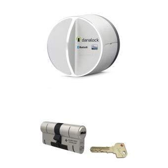 Danalock V3 - Bluetooth & Z-Wave con Serratura connessa + Cilindro universale M&C, di nuova generazione ad alta Sicurezza rinforzata