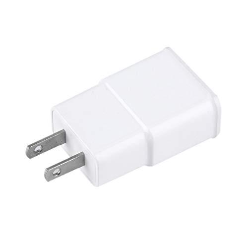 Adaptador de Cargador de Pared de CA con Enchufe de EE. UU. / UE 5V 2A USB Doble de 2 Puertos para teléfono móvil Blanco Blanco UE