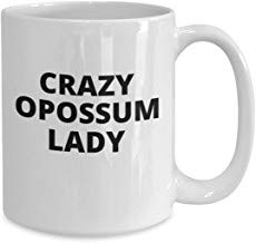 LECE Grappig van het beste cadeau gek Opossum Lady - Possum liefhebber cadeau - grappige nieuwigheid geschenk - schattig koffie mok - Possum cadeautjes