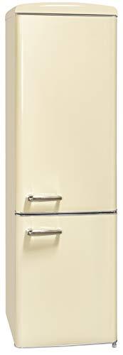 Exquisit RKGC 250/70-16 A++MW Retro-Kühl-Gefrierkombination/EEK: A++/ 4* Gefrierfach/181 Liter Kühlen/63 Liter Gefrieren/ Retro-Handgriff/Magnolienweiß