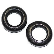 Lot de 10 perles en bois Noir 12 mm