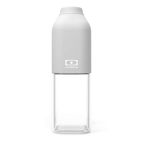 monbento - MB Positive M 50cl - Botella Agua sin BPA - Botella Tritan Reutilizable - Ideal para el Deporte y la Oficina (M (500ml), Gris Coton)