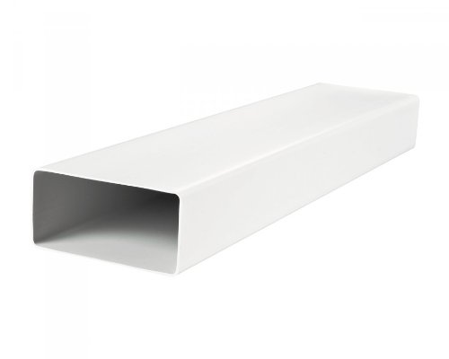 Blauberg UK 204 x 60 mm Flat Channel Plastic Ducting and Fittings for Extractor Fan Ventilation - 1 metre Long Flat Duct