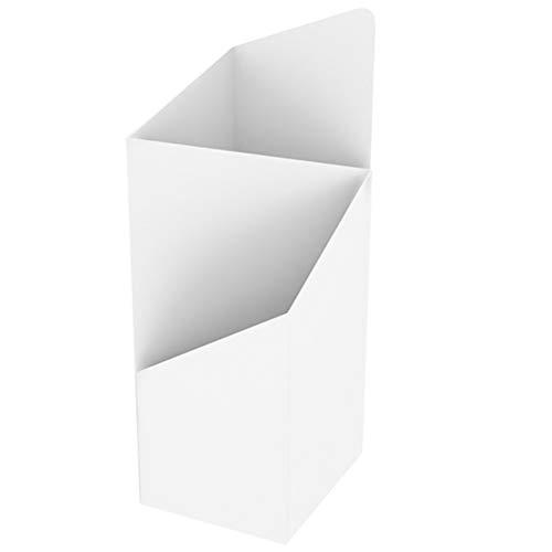 Regenschirmständer Quadratische Metall Schirmständer, Schirmhalter Lagerregal Organizer Für Home Office Eingang Flur Patio Decor (Color : White)