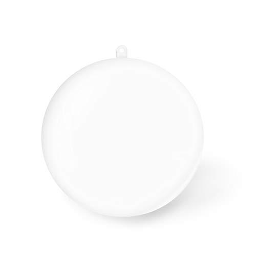Kranich 20Pcs Clear Plastic Christmas Ornament Ball 3.15inches Christmas Ball 3.15inches/80mm for Decoration
