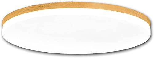GUIDATO Lampada Da Soffitto In Legno Massello Di Plafoniera Giapponese Ultra-sottile Lampada Di Dimming A Tre Colori Rotondo Moderno Design Acrilico Design Lampade Da Incasso Salotto Cucina Corridoio