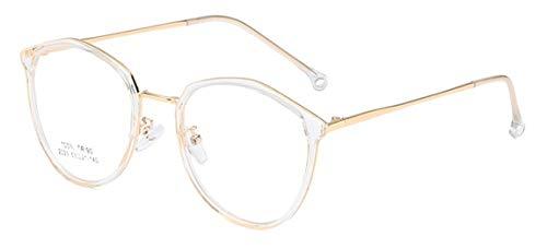 JIUPO Retro Brille Ohne Stärke Nerd Brillenfassung Voll Rahmen Klare Gläsern Sixties Style Damen Herren